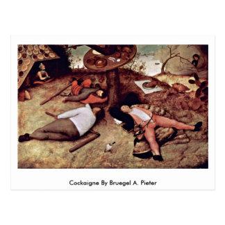 Cockaigne por Bruegel A Pieter Postal