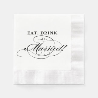 Cockail Napkin: Eat, Drink and be Married Napkin