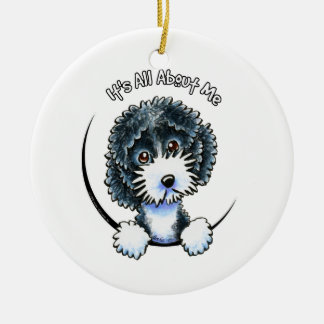 Cockapoo Black Parti IAAM Ceramic Ornament