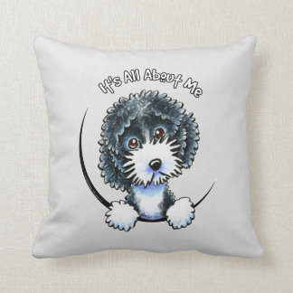 Cockapoo Black Parti IAAM Throw Pillow