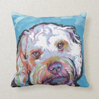 Cockapoo Bright Colorful Pop Dog Art Throw Pillow