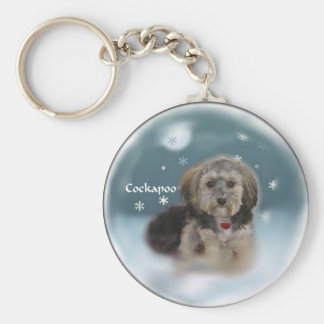 Cockapoo Christmas Gifts Keychain