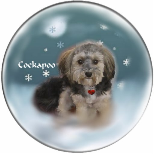 Cockapoo Christmas Gifts Photo Sculpture Ornament