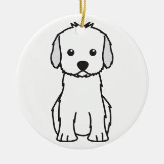 Cockapoo Dog Cartoon Ceramic Ornament