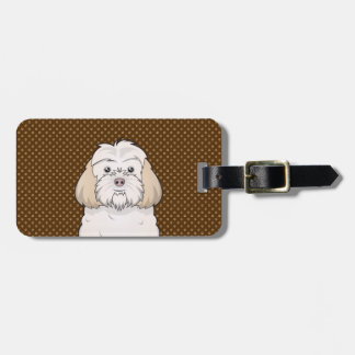 Cockapoo Dog Cartoon Paws Travel Bag Tag