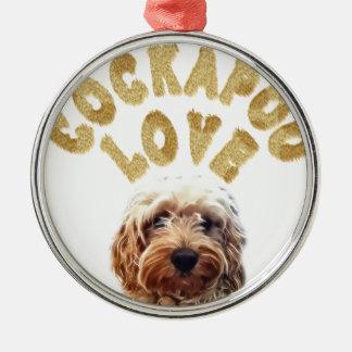 Cockapoo Dog Metal Ornament