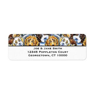 Cockapoo Dog Pack Return Address Label