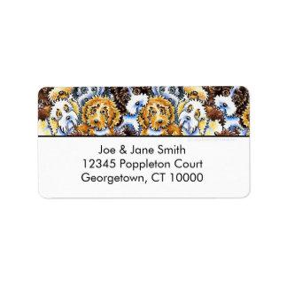 Cockapoo Dog Pack White Address Label