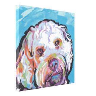 Cockapoo Pop Dog Art on Gallery Wrapped Canvas