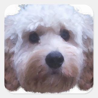 Cockapoo Puppy Square Sticker
