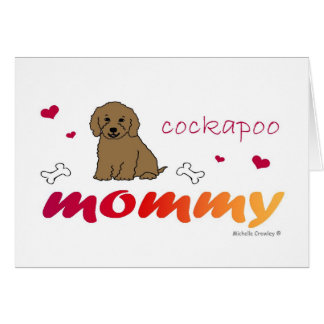 CockapooBrnMommy Greeting Card