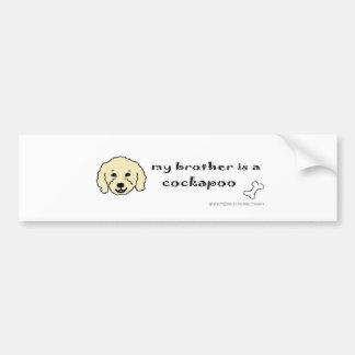 CockapooYellowBrother Bumper Sticker