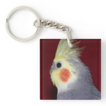 Cockatiel 2 Sided Parrot Key Chain