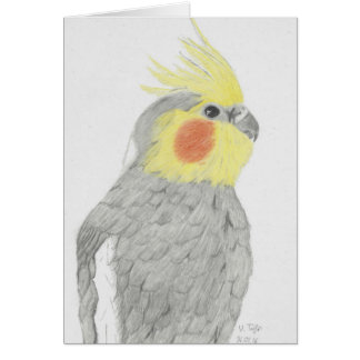 Cockatiel Art Greeting Card