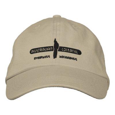 Cockatiel australiano gorra de beisbol bordada