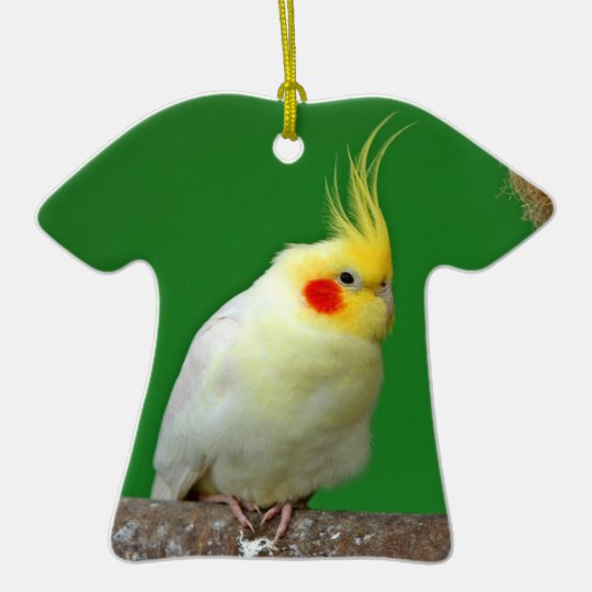 Cockatiel bird beautiful photo hanging ornament