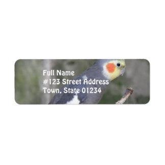 Cockatiel Bird Custom Return Address Labels