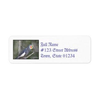 Cockatiel Bird Custom Return Address Label