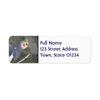 Cockatiel Bird Return Address Label