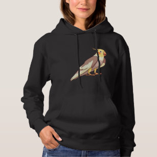 Cute Bird Casual Jumper Wellcoda Parrot Cheeky Look Mens Contrast Hoodie