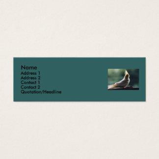 """""""Cockatiel"""" Bird Photo Profile Card"""