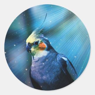 Cockatiel Classic Round Sticker