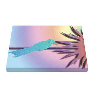 Cockatiel Climbing a Palm Canvas Print