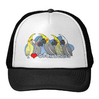 Cockatiel de las mutaciones del color gorro