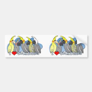 Cockatiel de las mutaciones del color pegatina para auto