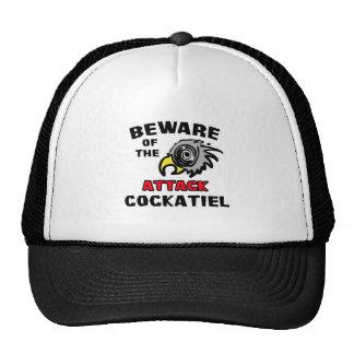 Cockatiel del ataque gorro