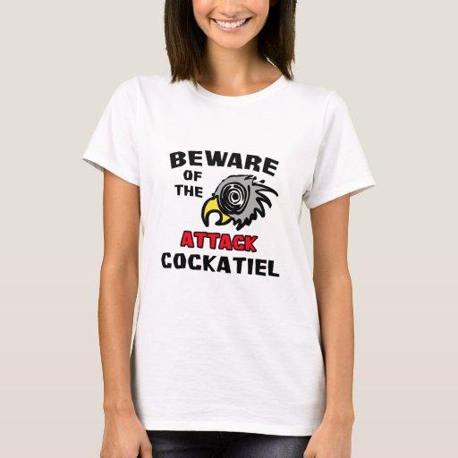 Cockatiel del ataque playera