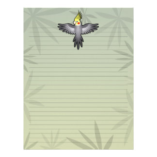 Cockatiel del dibujo animado membrete