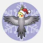 Cockatiel del navidad pegatina