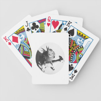 Cockatiel en círculo del bw de la cabra baraja cartas de poker