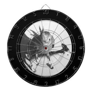 Cockatiel en círculo del bw de la cabra tablero dardos