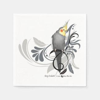 Cockatiel gris servilleta de papel