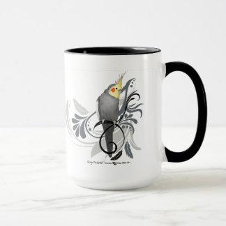 Cockatiel gris taza