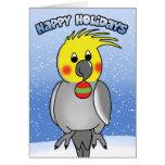 Cockatiel Happy Holidays Christmas Card