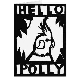 Cockatiel Hello Polly Card