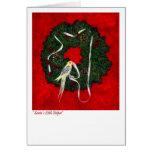 Cockatiel Holiday, Christmas Card
