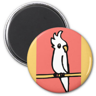 Cockatiel Illustration 2 Inch Round Magnet