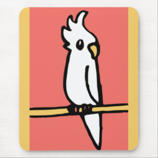 Cockatiel Illustration Mouse Pad