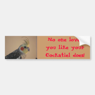 Cockatiel Love Bumper Sticker