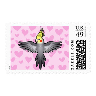 Cockatiel Love Postage Stamp