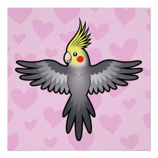 Cockatiel Love Poster