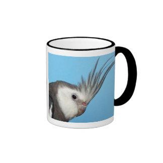 Cockatiel masculino de Whiteface Taza De Café