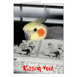Cockatiel-Missing You Greeting Card