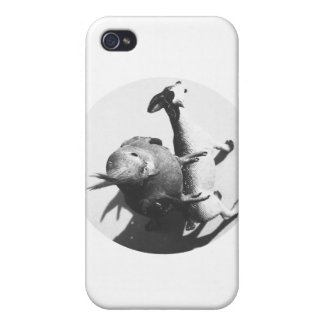 Cockatiel on goat bw circle iPhone 4 cases