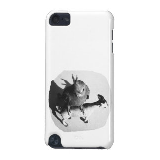 Cockatiel on rubber goat black and white picture iPod touch 5G cover