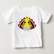 Cockatiel parrot in turkey costume Thanksgiving Baby T-Shirt